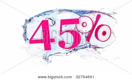 45 percent Summer Sale Or Discount Tags