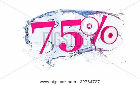 75percent Summer Sale Or Discount Tags