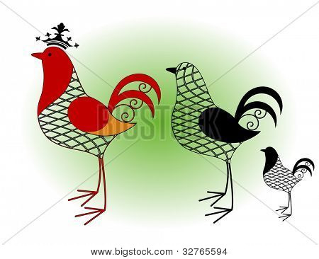 rooster wire frame 3 styles