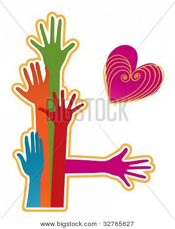 colorful hands icon