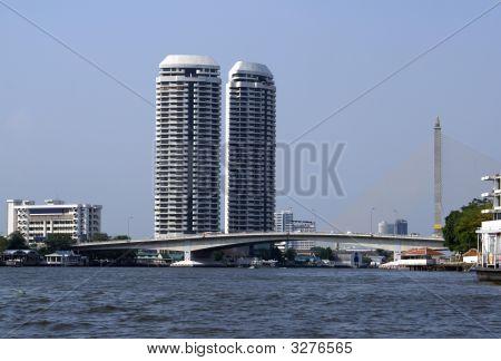 Riverfront. Bridge. Bridge Over A River. Riverside View