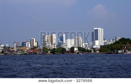 Riverfront. Riverside View. Bangkok