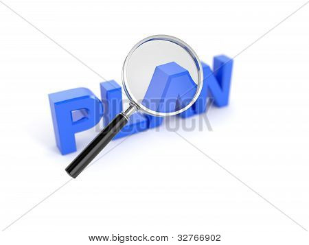 Plan Concept With Magnifying Glass