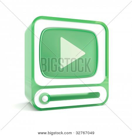 Variation of retro media player