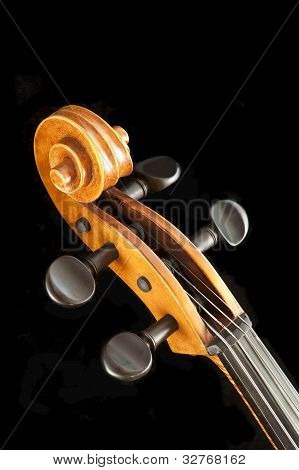 Cello scroll and peg