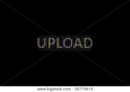 Upload (pixels) In Close-up On A Computer Screen