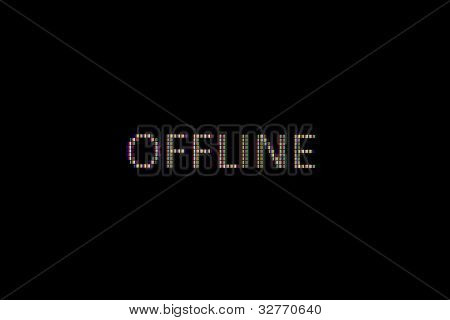 Offline (pixels) In Close-up On A Computer Screen