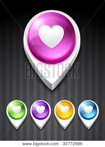 vector heart 3d style icon