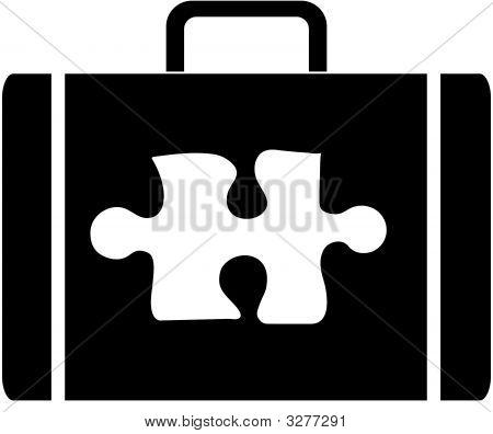 Briefcase W Puzzle Piece.