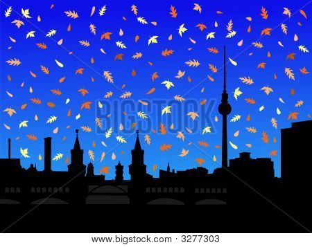 Berlin Skyline In Autumn