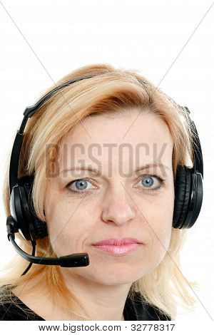 Mid-year Woman With Headphones