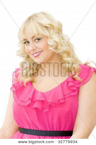Lovely In Pink - Beautiful Woman Smiling