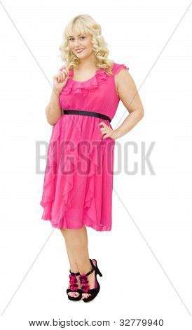 Party In Pink - Beautiful Woman Smiling