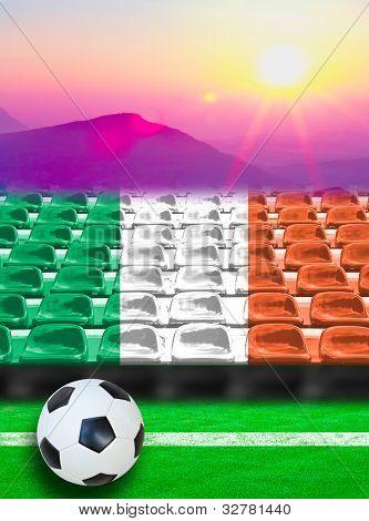 Irland Flagge Muster auf Sitz