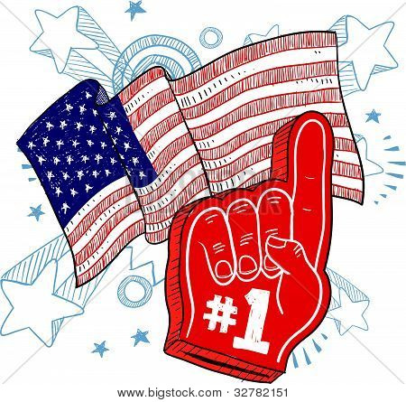America is #1 illustration