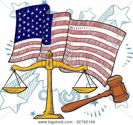 American justice illustration