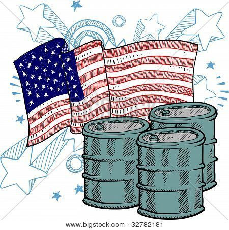 American oil illustration