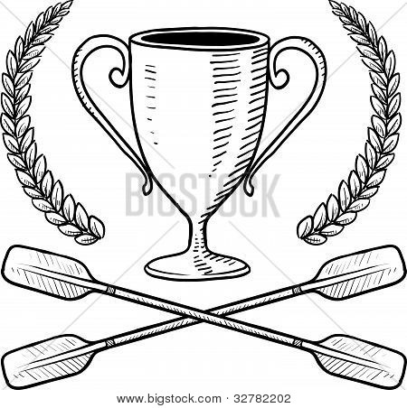 Canoe or boating award sketch