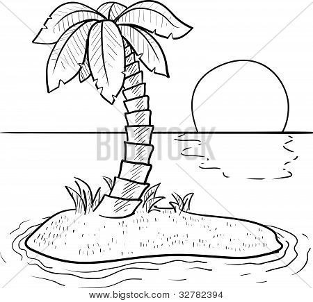 Desert island sketch