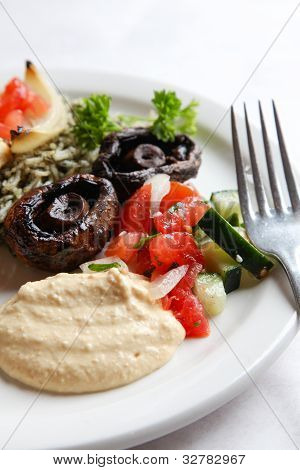 Hummus and persian salad