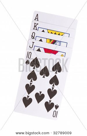 Old Playing Cards (royal Flush)