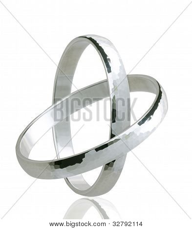 Two united weddingrings in silver