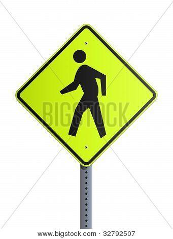 Crosswalk roadsign