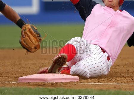 Pink Shirted Baseball Player