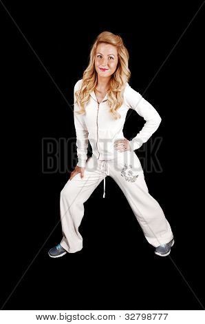 Girl In White Tracksuit