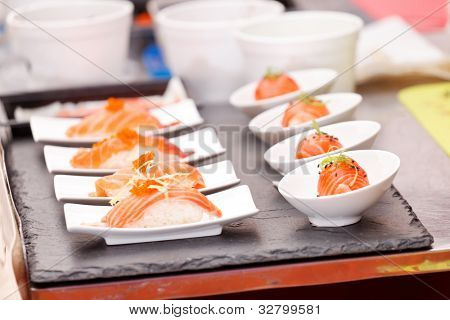 sushi on the table