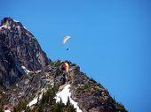 foto of ultralight  - Paragliders soaring near Cutthroat Peak Washington State - JPG