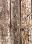 Wooden Boards. Three Ragged Vintage Shabby Old Wooden Boards. Peeling Paint. It Can Be Seen That Ear poster