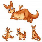 foto of animated cartoon  - Illustraiton of mixed kangaroo cartoons - JPG