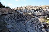 picture of amman  - Roman amphitheater in Amman - JPG