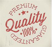 Vector retro premium quality red detailed stamp
