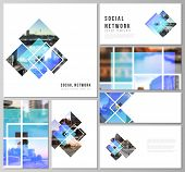 The Minimalistic Abstract Vector Illustration Of The Editable Layouts Of Modern Social Network Mocku poster