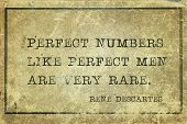 Perfect Numbers Like Perfect Men Are Very Rare - Ancient French Philosopher And Mathematician René D poster