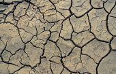 Climate Change And Drought Land. Water Crisis. Arid Climate. Crack Soil. Global Warming. Environment poster