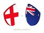 England V Australia, Icon For Rugby Tournament. Rugby Vector Icon. poster