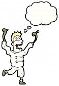 stock photo of madman  - cartoon crazy madman - JPG