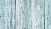 Rustic Old Wood Plank Background. Blue Wooden Plank Desk Table Background Texture. Old Painted Wall  poster