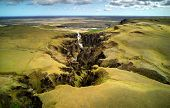 Famous Fjadrargljufur canyon in Iceland. Top tourism destination. South East of Iceland, Europe poster