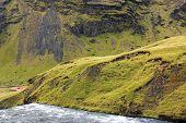 Skogafoss waterfall in Iceland, Europe poster