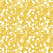 Geometric Vector Pattern With Golden Elements. Geometric Modern Ornament. Seamless Abstract Backgrou poster