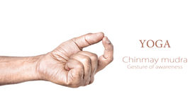 picture of samadhi  - Hand in Chinmay mudra by Indian man isolated at white background - JPG