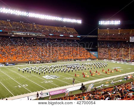 Half Time Show At Aloha Stadium