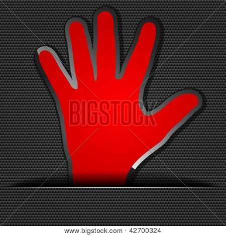 red human palm