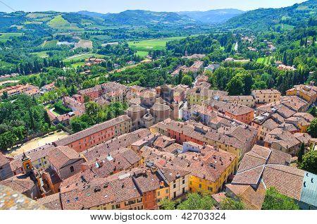 Panoramic view of Brisighella. Emilia Romagna. Italy.