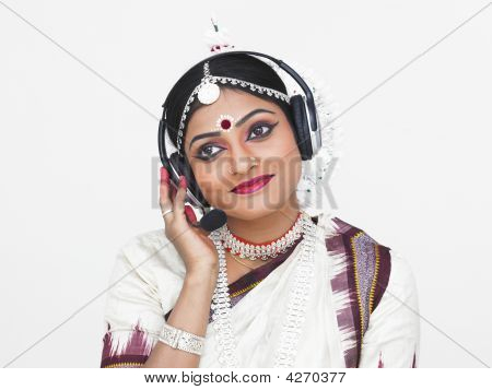 Classical Indian Female Dancer