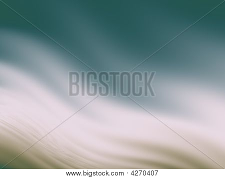 Abstract Wavy Background In Teal And Tan